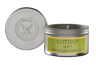 Votivo Travel Tin - Bright Leaf Tobacco